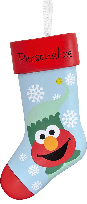 Hallmark Christmas Ornaments, Sesame Street Elmo Personalized Stocking Ornament