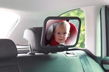Venture ActiVue Espejo de coche para bebé, alta calidad, incluye pegatina con texto en