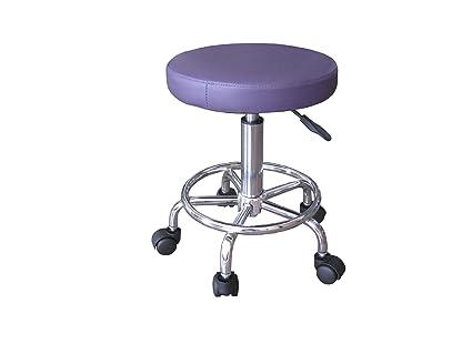 Sgabello con ruote viola regolabile in altezza da 45 a 60 cm: amazon
