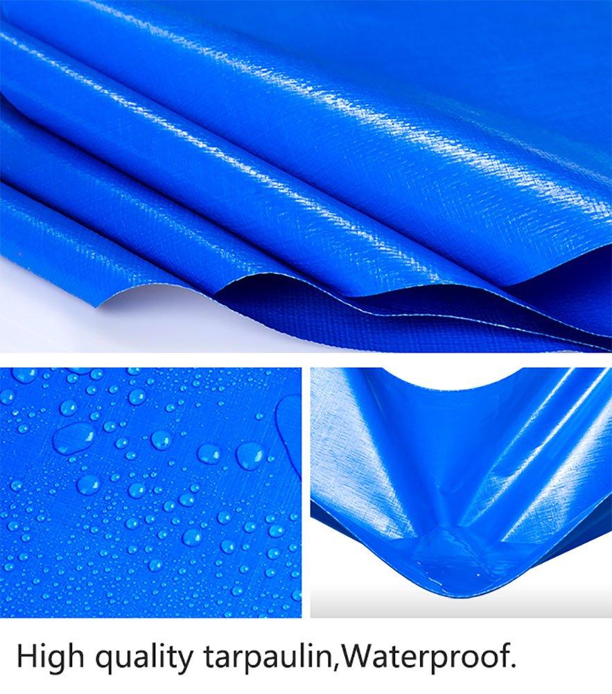 HQCC Telo copertone Grande Telo Telo Impermeabile Tenda Tenda Tenda PE Rinforzata Tenda da Sole Tenda da Sole Tenda da Sole per Esterno -blu, 180G   M² (Dimensioni   3  4m) | prendere in considerazione  | Materiale preferito  5c4dd0