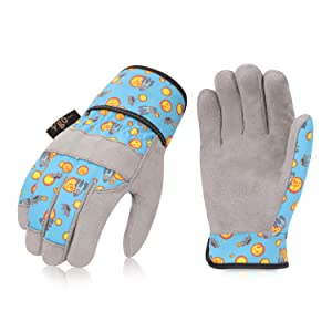 Vgo 2Pairs 3-4 Years Old Kids Gardening,Lawning,Working DIY Gloves(Size KID:XS,2 Color,KID-MF3561)