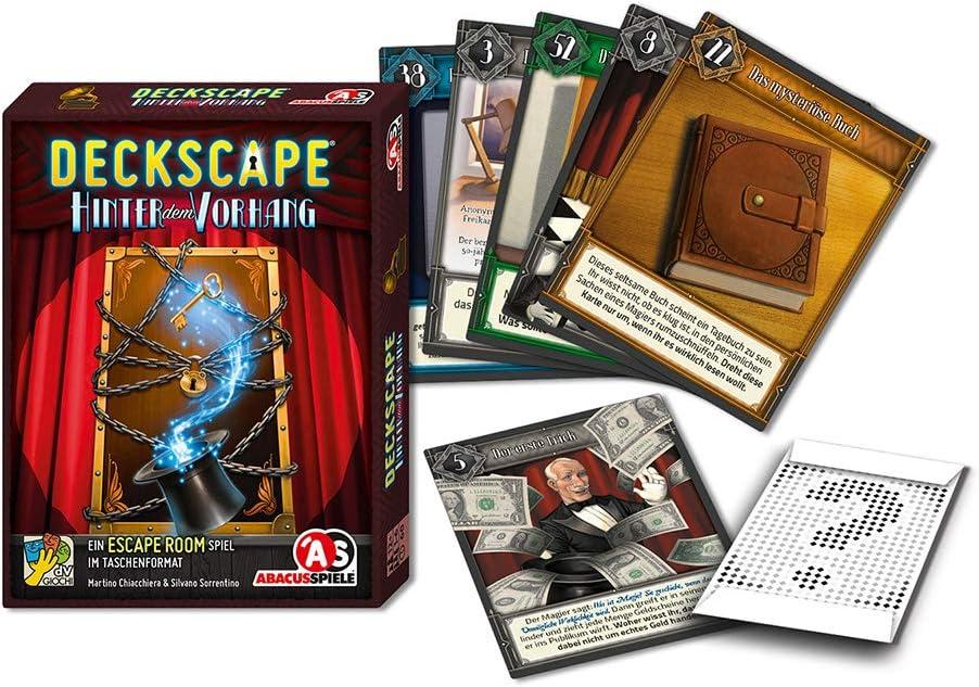 Abacusspiele 38191 Escape Room - Juego de Cartas (Contenido en alemán): Amazon.es: Juguetes y juegos
