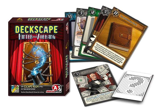 Abacusspiele 38191 Escape Room - Juego de Cartas (Contenido en ...