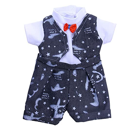 f351cc310 Amazon.com: Jieson Doll Clothes Dress Accessories for 18Inch American Doll  Gift to Baby (Dark Blue): Clothing