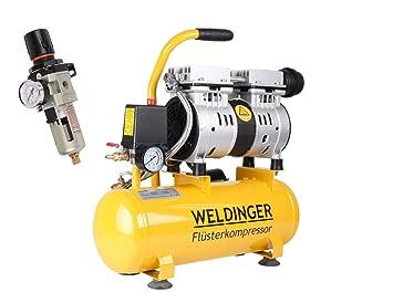 Kit de weldinger Compresor silenciosos FK 60 + weldinger Impresión regulador de aire en ECO: Amazon.es: Bricolaje y herramientas
