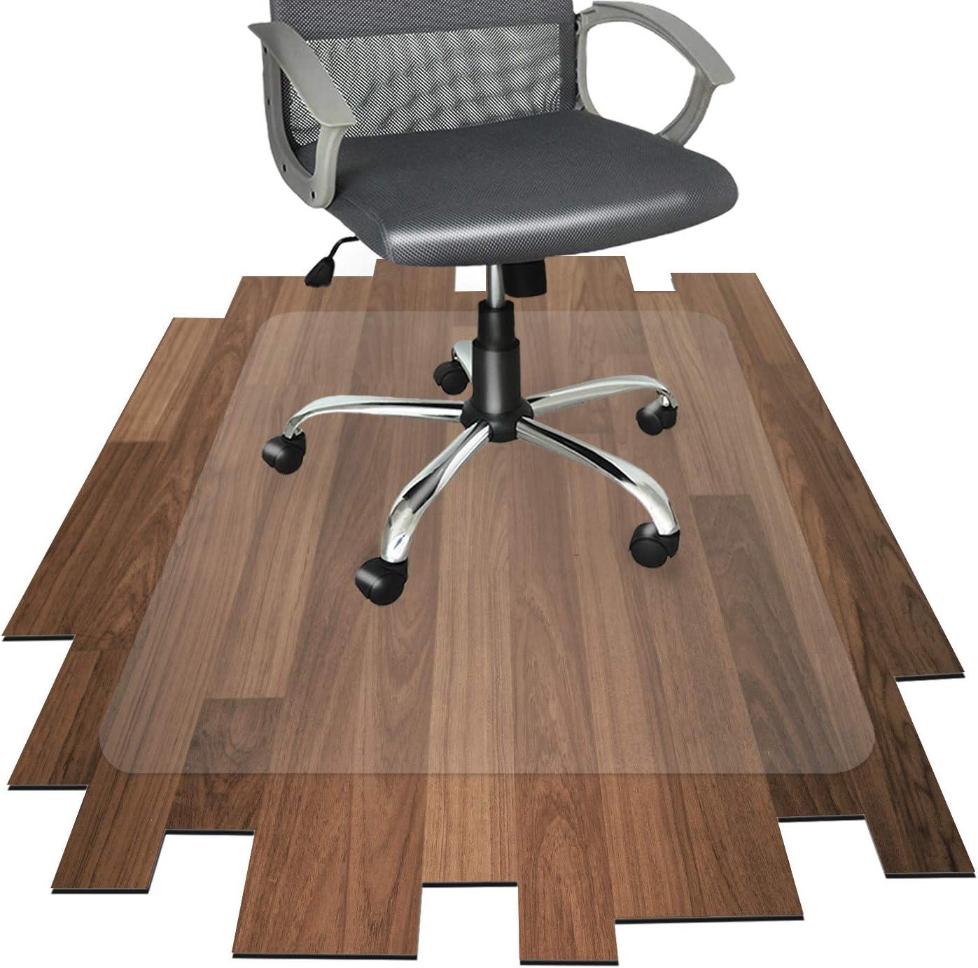 Non-Slip Durable Hard-Floor Protector Mat with 4mm 55x35Office Chair Mat UK STOCK 100/% Polyester Fiber Floor Protector Mat for Office//Home