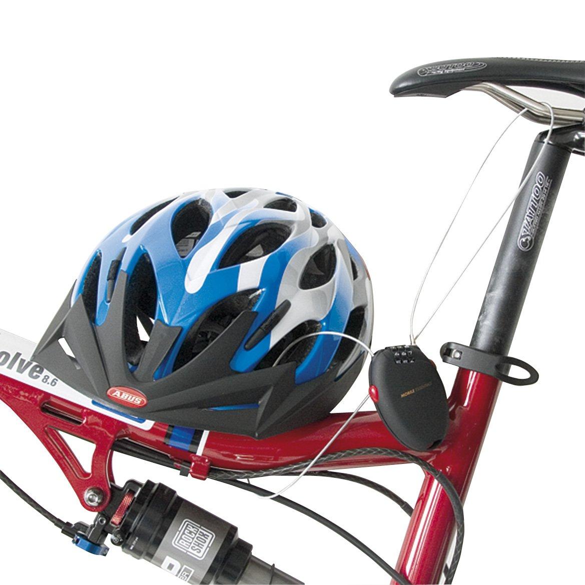 Antirrobo para el casco y moto Standard blanco con Abus candado