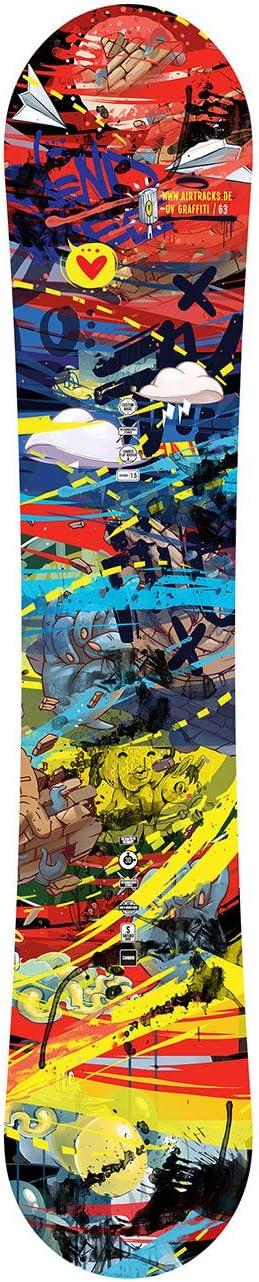 /Juego Completo//Tarjeta Graffiti Wide Flat Rocker Botas Bag//155/159/163/cm AIRTRACKS/ Fijaciones Snowboard Star Snowboard