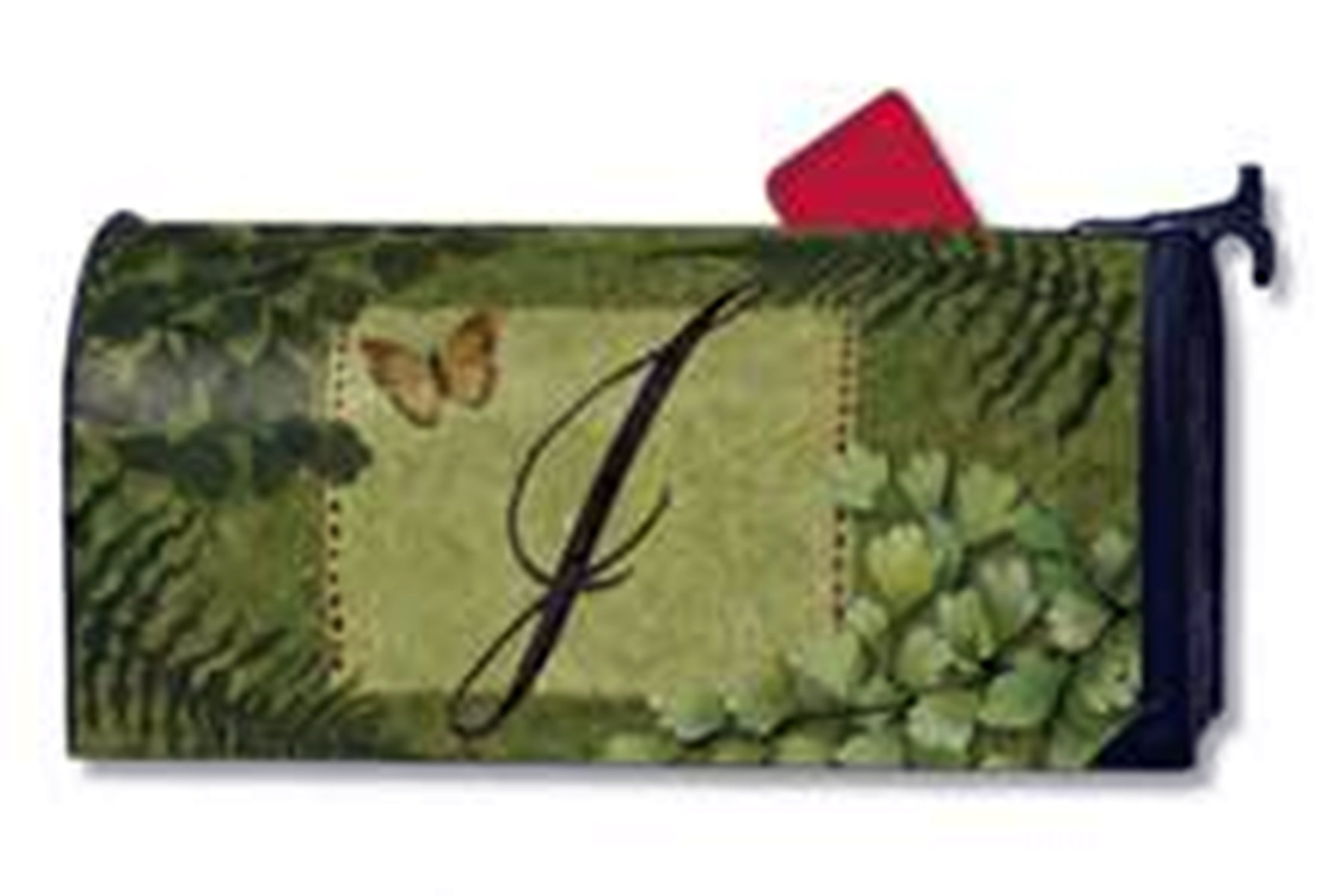 Nature's Monogram J Magnetic Mailbox Cover