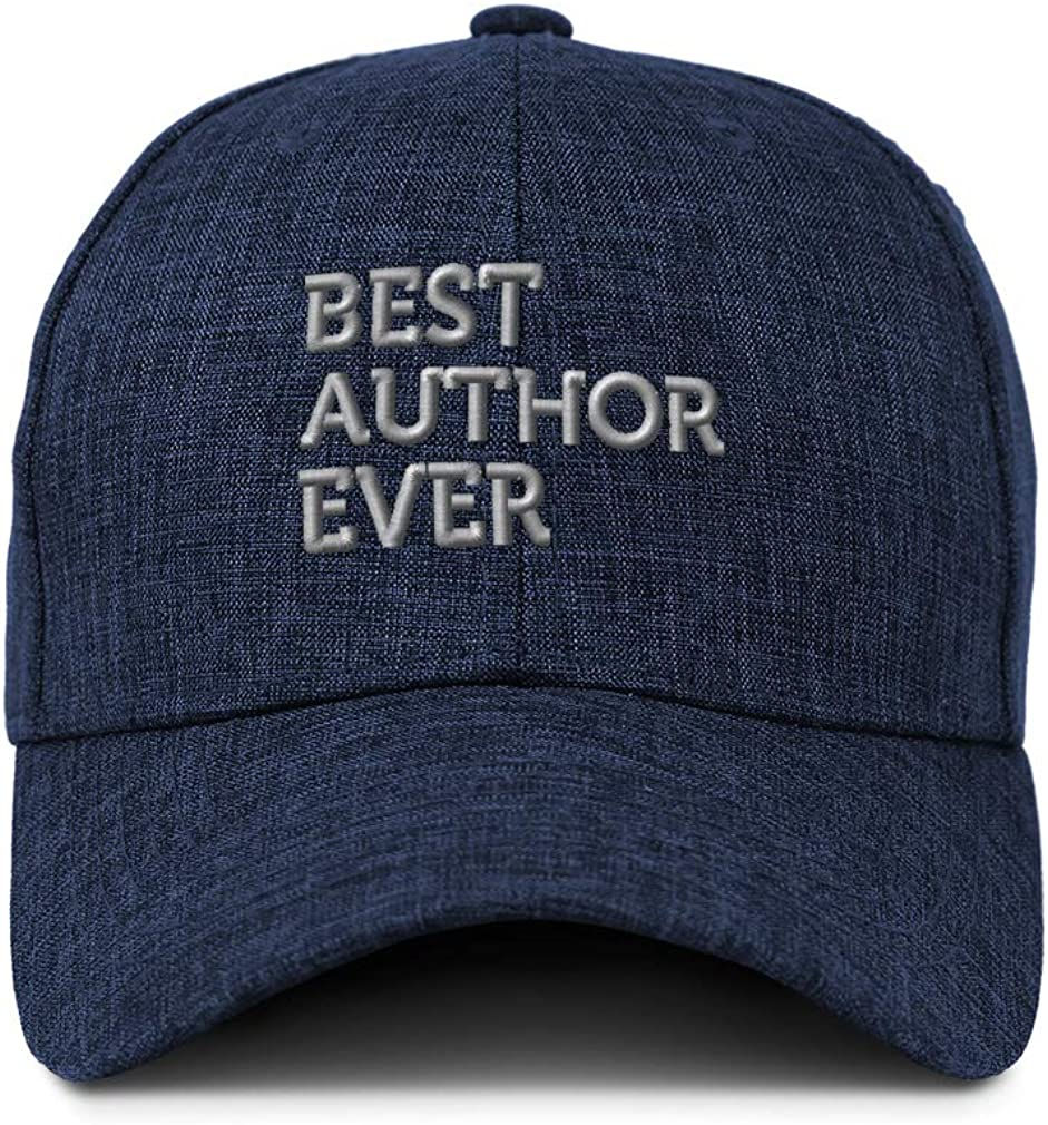Custom Baseball Cap Best Author Ever Embroidery Casual Hats for Men /& Women