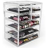 Sorbus Cosmetics Makeup and Jewelry Big Storage Case Display - Stylish Vanity, Bathroom Case (3 Large, 4 Small Drawers…