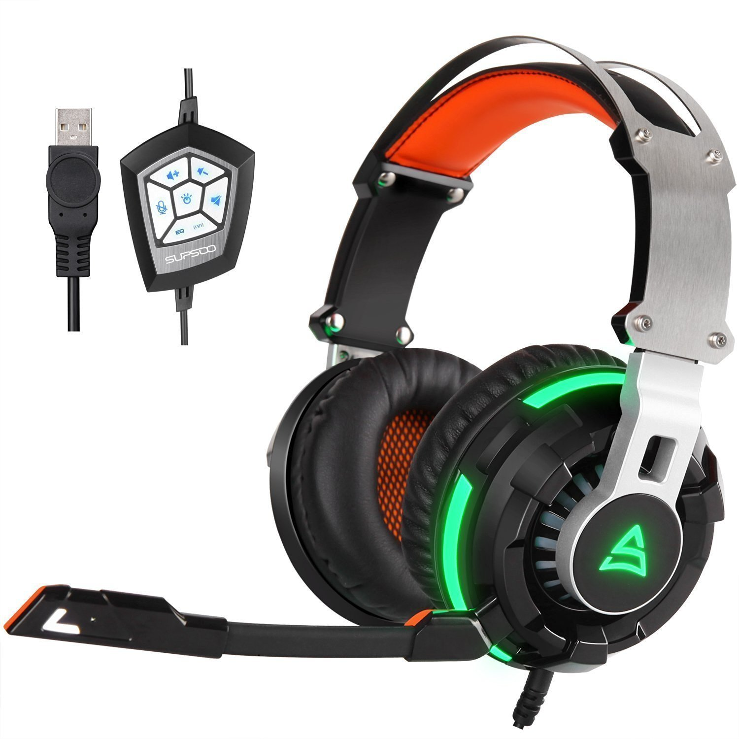 GT Supsoo G800 USB Wired Stereo Over-Ear Gaming Headset
