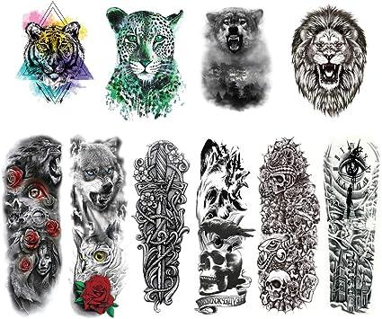 Brazo Tatuajes Temporales Adultos Grandes, Tatuaje de medio brazo ...
