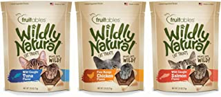 product image for Fruitables Wildly Natural Wild Caught Tuna, Chicken, and Salmon Flavor Cat Treats Variety Pack, 2.5 Ounces Per Pack
