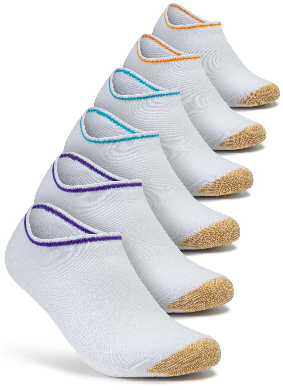 Tesla TM-MZS09-ALW_Medium 6-Pairs Unisex No-Show Casual Fashion Socks Atheltic MZS09