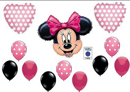 Amazon.com: Globos para fiesta de cumpleaños Minnie ...