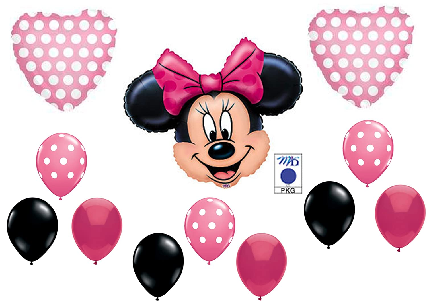 PINK MINNIE MOUSE BIRTHDAY PARTY Balloons Decorations Supplies by Anagram