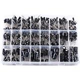 540pcs 24 Values Commonly Used Aluminum Electrolytic Capacitors Assortment Kit 10V-50V 0.1uF to 1000uF with Storage Box