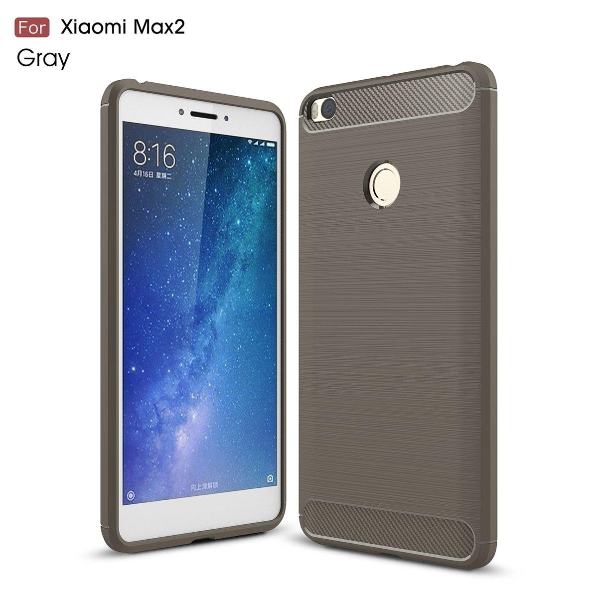 CASEWIN Funda Xiaomi Mi Max 2 de fibra de carbono con ...