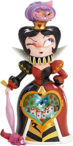Enesco World of Miss Mindy Disney Alice in Wonderland Queen of Hearts, 10 Stone Resin Figurine, Multicolor