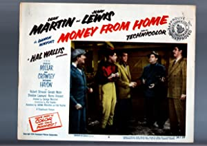 MOVIE POSTER: MONEY FROM HOME-DEAN MARTIN/JERRY LEWIS-LOBBY CARD #5 FN/VF