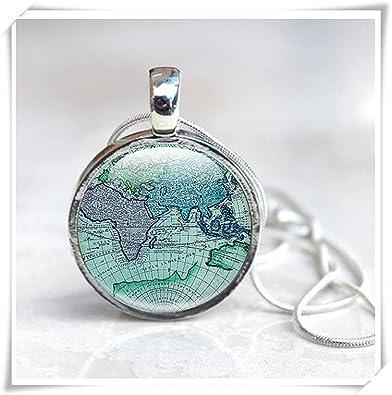 Amazon map necklace ancient world map globe necklace world map necklace ancient world map globe necklace world map pendant gumiabroncs Gallery