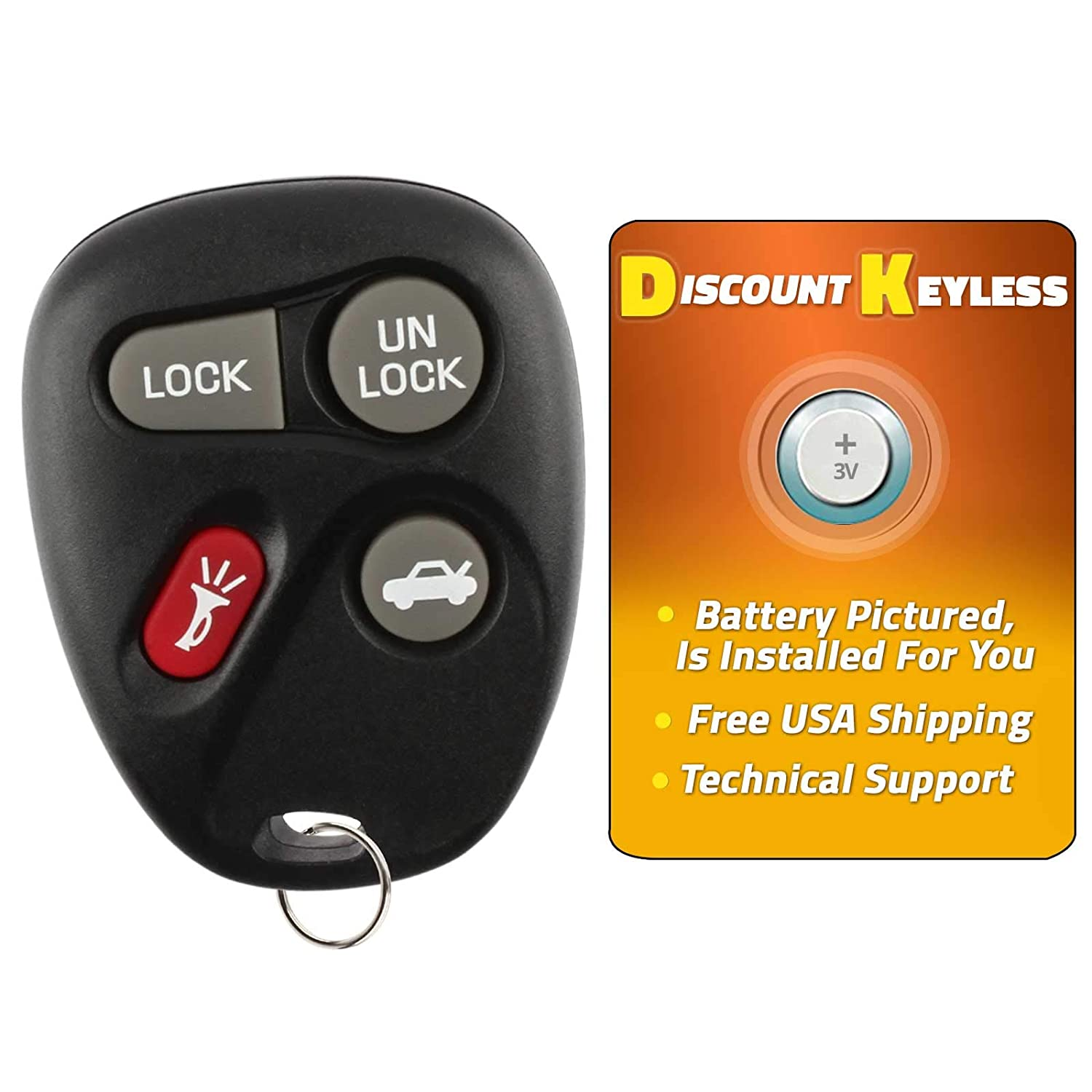 24401698 22692190 Discount Keyless Replacement Key Fob Car Remote Compatible with LHJ009