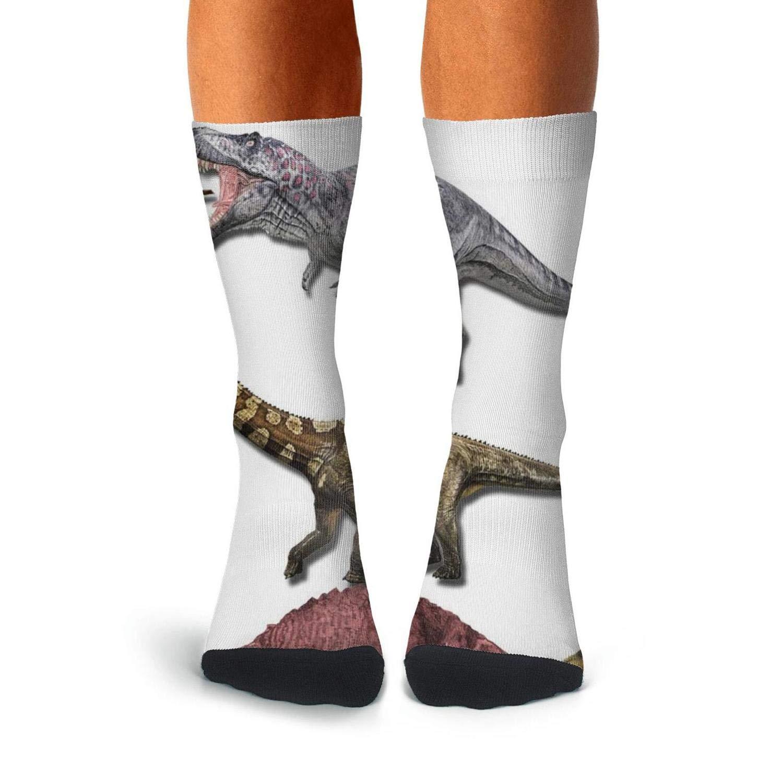 KCOSSH Dinosaur Species Mens Crew Socks Crazy Over The Calf Socks For Men Casual Compression Stockings Men