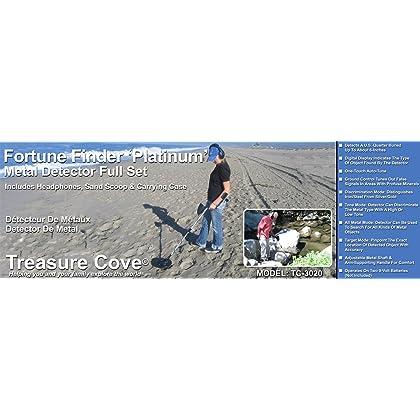 Treasure Cove TC-3020 Fortune Finder Platinum Digital Metal Detector Set