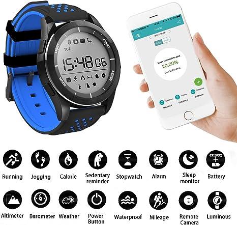 Reloj inteligente de Konesky con soporte deportivo impermeable ...