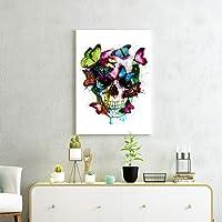tableau tête de mort papillon 3