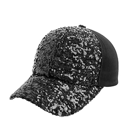Man hongjia Hat Ladies Summer Baseball Cap Korean Sequined Cap Outdoor Hip  Hop Hat Multi- fcf88d22988