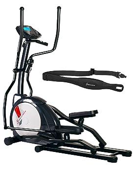 Sportstech CX630 profesional bicicleta elíptica incl. Cinturón de pulso con movimiento elíptico corriendo, inercia