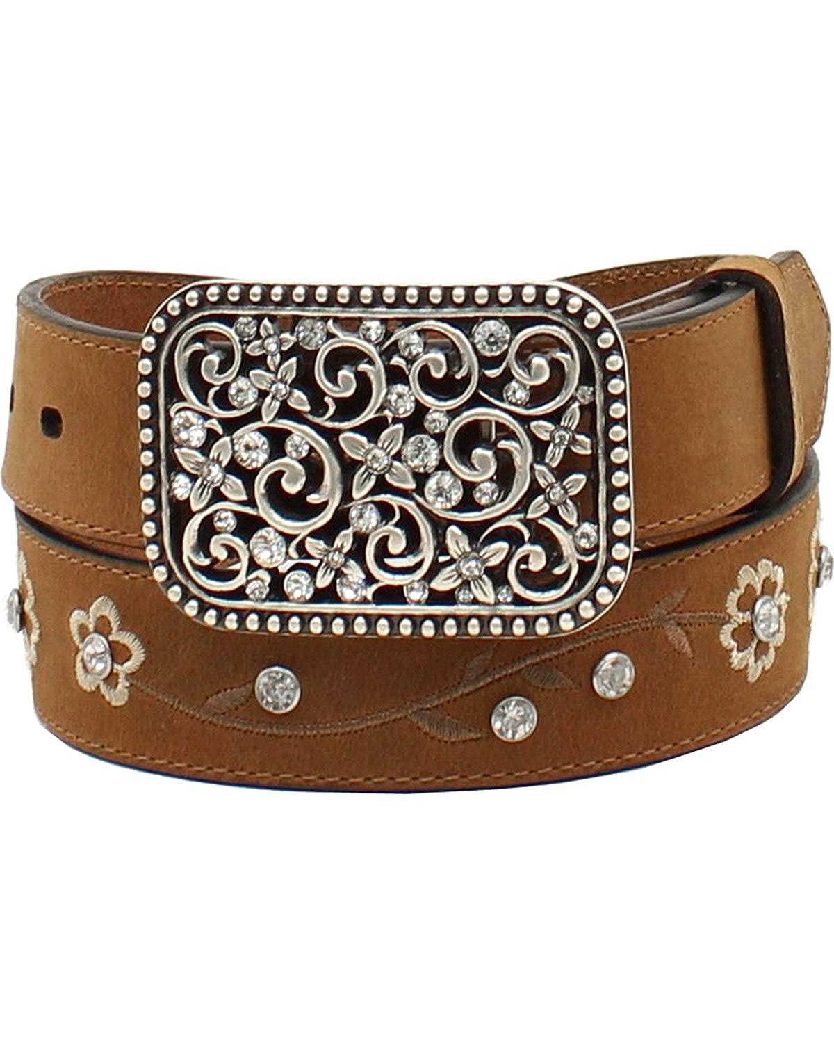 Ariat Kid's 1/4'' Flower Embroidered Belt