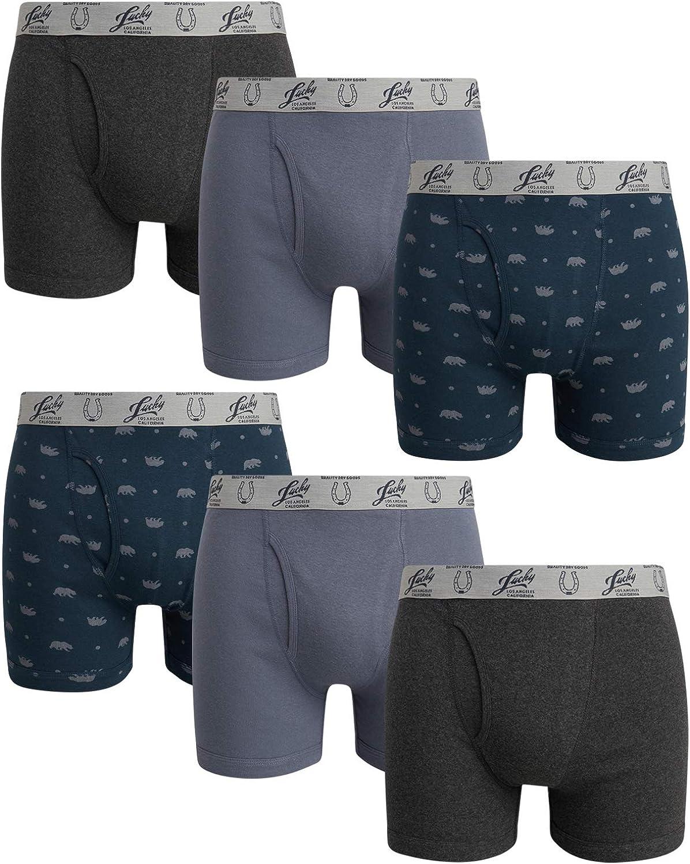Lucky Brand Men's Cotton Boxer Briefs (6 Pack)