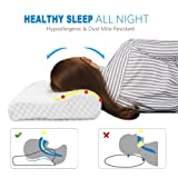 Amazon Price History for:Memory Foam Contour Pillow Hypoallergenic Neck Pillow with Orthopedic Design for Neck Support and Pain Relief, Cervical Pillows for Sleeping with Removable Pillow Cover by TAMPOR, Standard