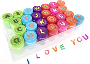 26 ALPHABET STAMPERS ABC Self Inking Stamps Scrapbooking Art Craft School Learn