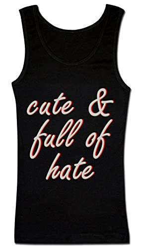 Cute And Full Of Hate Camiseta sin mangas para mujer