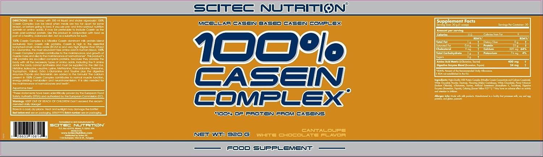 Scitec Nutrition Casein Complex proteína chocolate blanco-melón 920 g