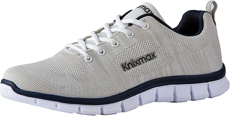 Knixmax-Zapatillas Deportivas de Hombre, Zapatillas de Running Fitness Sneakers Zapatos de Correr Aire Libre Deportes Casual Zapatillas Ligeras para Correr Transpirable, 42-46EU