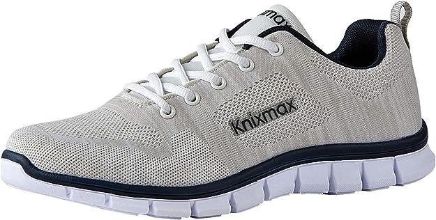Knixmax-Zapatillas Deportivas de Hombre, Zapatillas de Running Fitness Sneakers Zapatos de Correr Aire Libre Deportes Casual Zapatillas Ligeras para Correr Transpirable, 42-46EU: Amazon.es: Zapatos y complementos