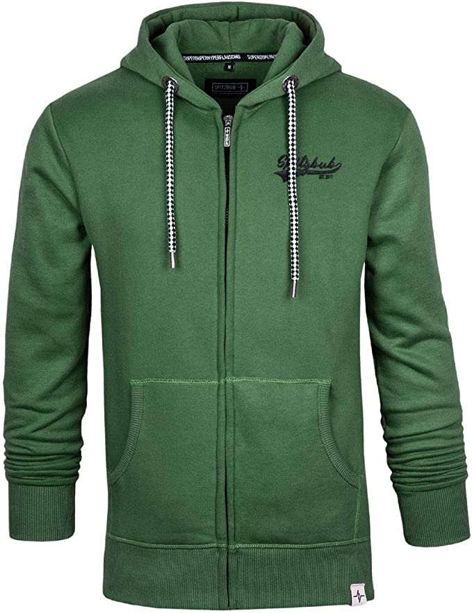 Spitzbub Herren Hoodie Pullover mit Kapuze Sweatjacke Zipper