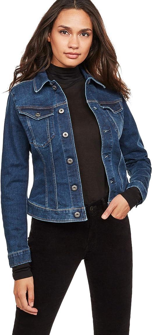 G Star Raw Damen Jeansjacke 3301 Jkt Wmn Blau zum Verkauf