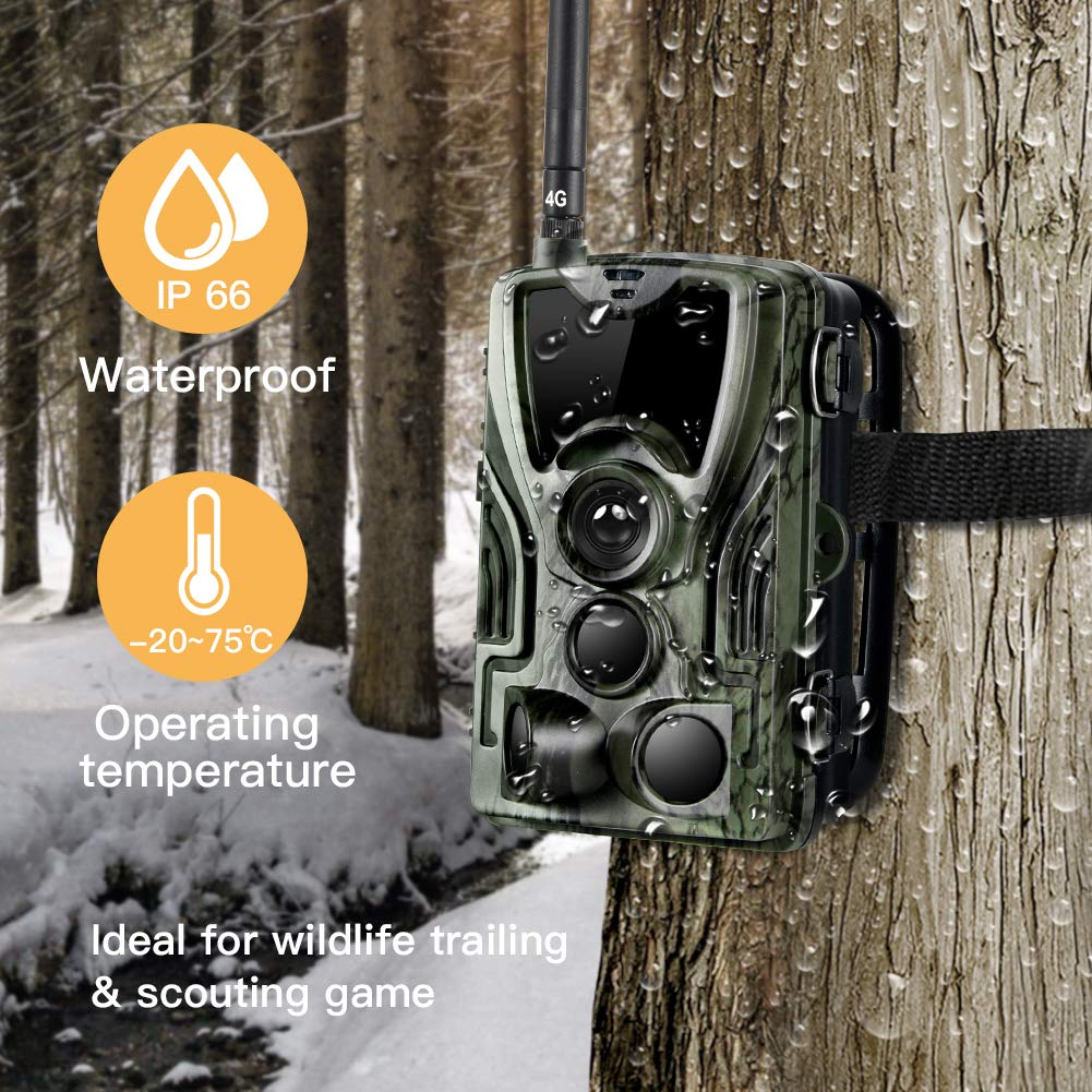 Suntekcam 4G LTE Cellular Trail Game Camera, 16MP 1080P Wildlife Hunting Camera(AT&T/Verizon), Micro SD Card and Card Reader Included, Night Vision IP65 Waterproof Cam,0.3s Scouting Camera by Suntekcam (Image #5)