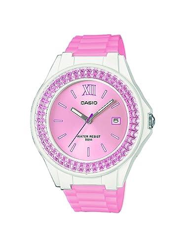Casio Reloj Analógico para Mujer de Cuarzo con Correa en Acero Inoxidable LX-500H-4E5VEF: Amazon.es: Relojes