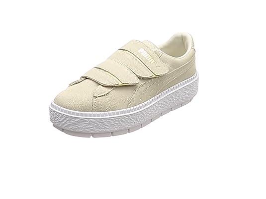 Puma Platform Trace Strap Damen Sneaker Whisper White