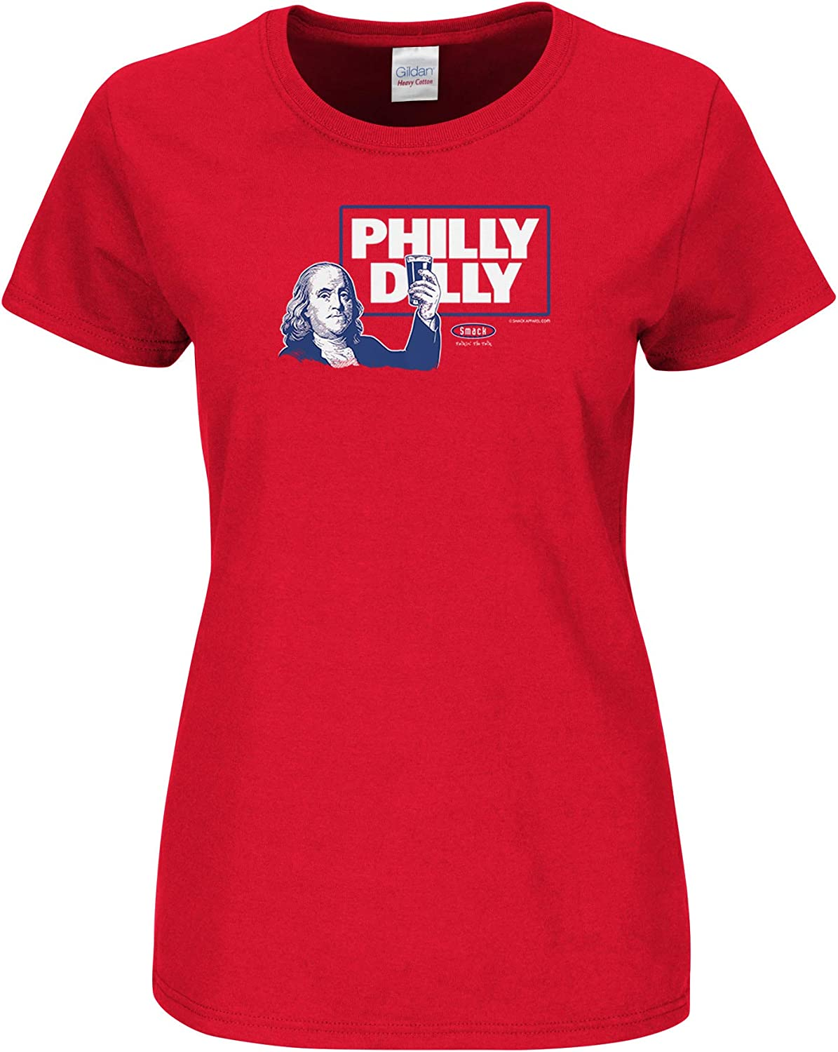 Philly Dilly Red Ladies Shirt Smack Apparel Philadelphia Baseball Fans Sm-2x