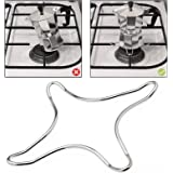 AMOS Gas Ring Trivet Reducer Stove Top Hob Cooker Heat Simmer Coffee Pots Cafetiere Espresso Makers Pans Stainless Steel Kitchen Utensil