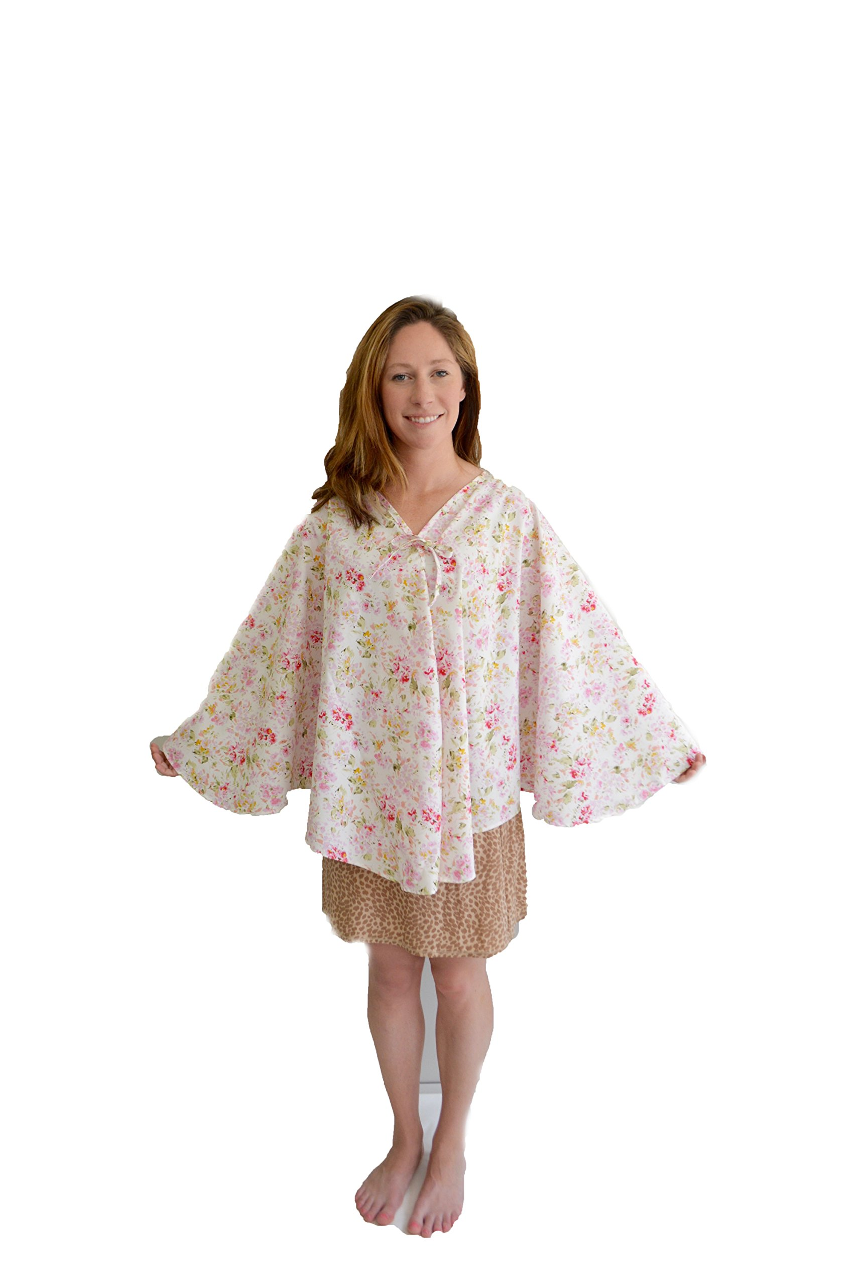 Health Gear - Mammography Exam Imaging Cape - Monet Floral, One Size (6 piece pack)