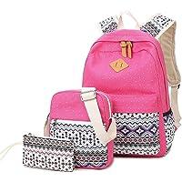 3 unidades de mochila de hombro étnico para mujer y niña, bolsa de viaje al aire libre bolso de mano